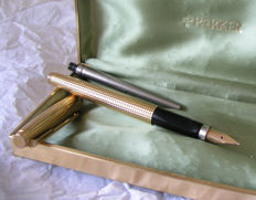 Parker 75 Diamant fountain pen: rare French 20 micron flat tassies.