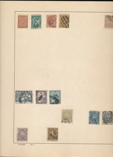 South and Central America 1884/1972 - collection on album sheets.