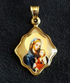 Religious Pendant 14k gold - 22 mm