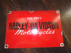 Harley Davinson, Enamel Usa sign .