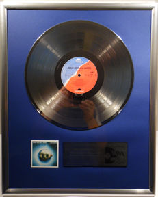 """Jean-Michel Jarre - 12"""" German Polydor Record platinum plated record by WWA Awards"""