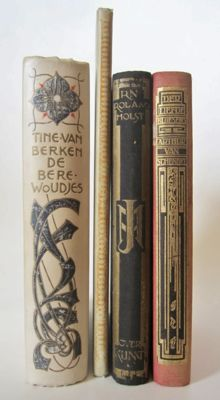Book design; Lot with 4 books designed by, among others, Jan Sluijters - 1904/1923
