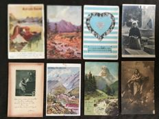 lot of about 800 postcards novelty, art and celebrities and various France - early 20th century to the 1960s various France