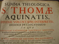 Saint Thomas Aquinas - Summa Theologica […] in tres partes - 3 volumes (the second in 2 parts) bound as 1 - 1686