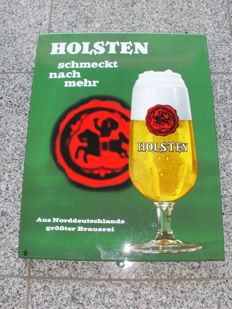 Email shield - HOLSTEN beer / brewery - Germany / Hamburg approx. 1950