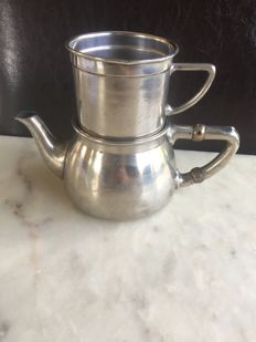 Wiskemann - classic silver plated coffee set / coffee pot model Brevete- circa 1900