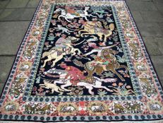 Hand-knotted Indo ghom, kashmir rug, 183 x 130, India, around 1960