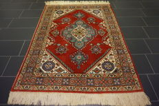 Persian palace rug, old, semi-antique, Tabriz, 145 x 200 cm, Made in Iran
