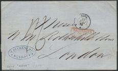 France Beirut 1863 - letter via the liner Neva for London (England).