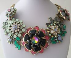 Joan Rivers Bronze Tone High-End Floral Bib Necklace