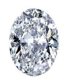 Diamond of 1.00 ct, E SI 1, oval cut