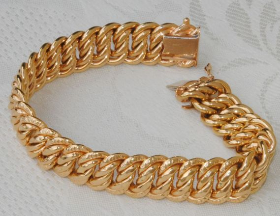 American chain bracelet in 18 kt Gold - 30.09 g - Length 19 cm