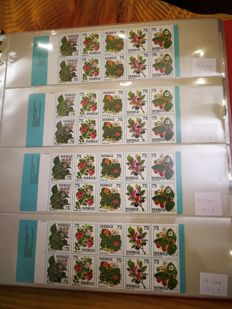 Sweden - Lot of 200 vending machine booklets - Facit catalogue no.: HA2 to HA26.