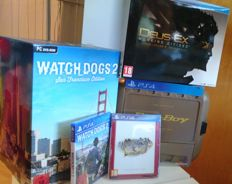 Lot of 3 PlayStation 4 games, all 3 limited editions,  & Fallout 4 Pip-Boy edition case