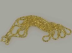 18k Gold Necklace. Ball Chain - 49,5 cm