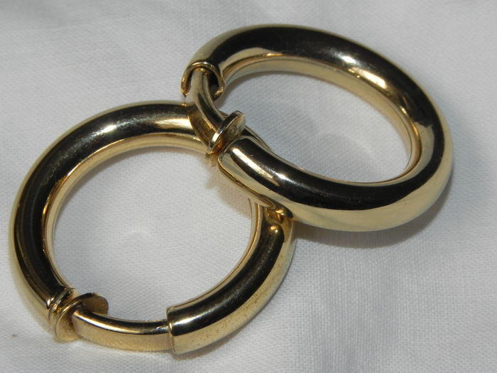 Gold-plated - Ear clips Christian Dior gold plated 22.7mm diameter