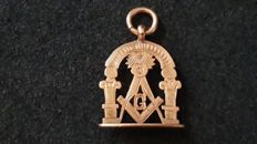 English 9kt gold Masonic order medal from the early 1900s.