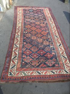 Antique handmade Persian Kurdish gangway rug.