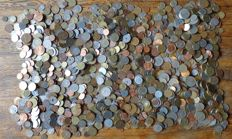 World – batch of various coins (approx. 2000 pieces)