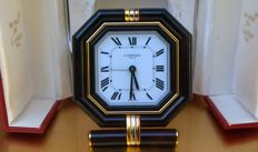 Cartier Paris Swiss Made – Table clock with alarm – Circa 1990 in mint condition