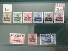 Belgium 1914 - Occupation stamps - OBP OC1/9