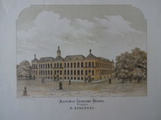 Leiden; a.o. A. M. Visser / Defos - 1 lithograph and 6 copper engravings - 18th/19th century