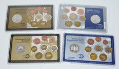 Germany - 4 Year collections 2003 and 2004 with 10 euro coins - silver