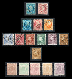 The Netherlands 1852/1871 - Selection of Willem III and Coat of Arms stamps