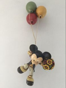 Disney, Walt - Figure - Mickey hanging from balloons (c. 1980)