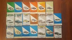 Lot of 20 FAQ booklets varying from Austin to Toyota