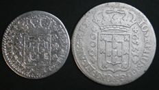 "Portugal – 2 Coins of D. José I ""IOSEPHUS"" in SILVER - 6 Vinténs – 1750 -1777 and 12 Vinténs – 1752 – Lisbon"