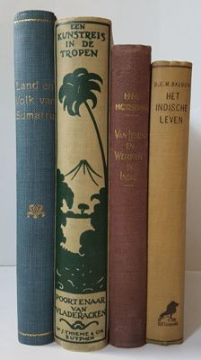 Lot with four books concerning the Dutch Indies - 1916/1928
