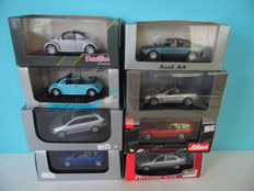 Divers - Scale 1/43 - Lot with 8 models: VW, Audi, Mercedes-Benz, & Opel