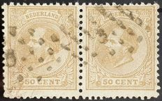 The Netherlands 1872 - King William III combined perforation - NVPH 27J + 27H