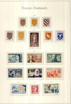 France 1955-59 – 5 complete years with Air Mail and Pre-Cancelled – Yvert # 1008  to 11229, PA34 to 37,  Pre-Cancelled 106-118