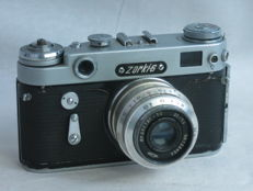 ZORKI 6, 35mm rangefinder camera, Leica copy, ca. 1962, with 50mm/3.5 lens,EXC+