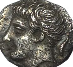 Greek Antiquity - Italy, Sicily, Panormos-Ziz - AR Litra, Punic occupation ca. 405-380 BC - Head / Man-headed bull - SNG ANS 548