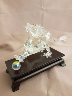Swarovski - Crystal Zodiac Dragon with wooden base