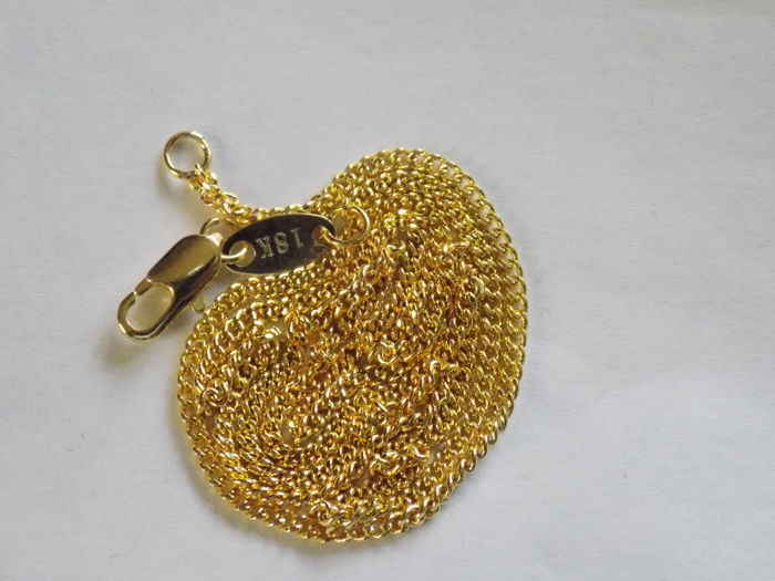 18kt gold unisex necklace, 45cm long