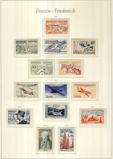 France 1950-54 – the 5 complete years with PA and Tax – Yvert No. 863 to 1,007, PA30-33, Tax 106, 108, 111, 114