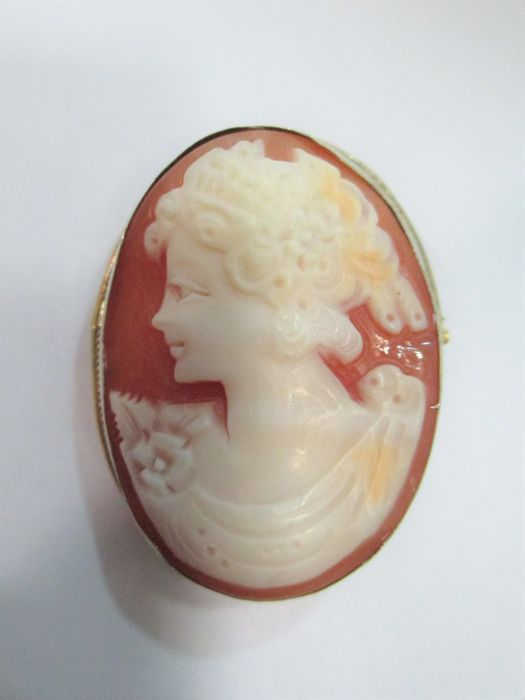 Oval cameo on mother of pearl - Vintage - Torre del Greco, Naples