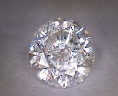 Diamond for 1.05 ct, round cut, colour: E, clarity: I1