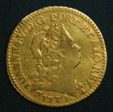Portugal – ½ Escudo in GOLD – 1730 – D. João V – 5 arch crown – Lisbon – Quite Above Average