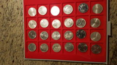Germany – lot with 24 x 10 DM – 1972 – Olympia – silver