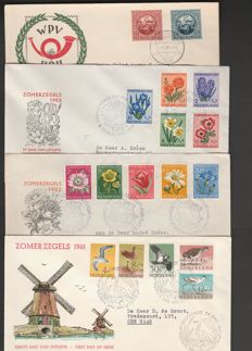 Netherlands 1949/1961 – Selection of FDCs including forerunner UPU