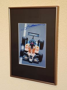 Jan Lammers - Formula 1 and Le Mans Legend - hand-autographed framed photo + COA + personal letter