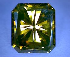 Diamond for 1.88 ct, colour: Radiant Yellowish Brown, clarity: VS2