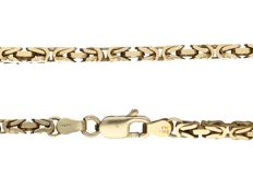 14 kt yellow gold kings braid necklace, length: 56 cm.