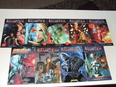 Collection Of Battlestar Galactica Paperback Novels - 9x TPB / SC - 1st Printing - (1995/2011)