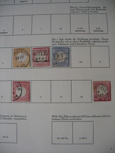 German Empire 1872 and Württemberg - stains in stock album and on sheets